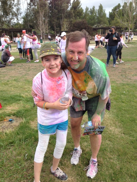 Father-Daughter Run or Dye