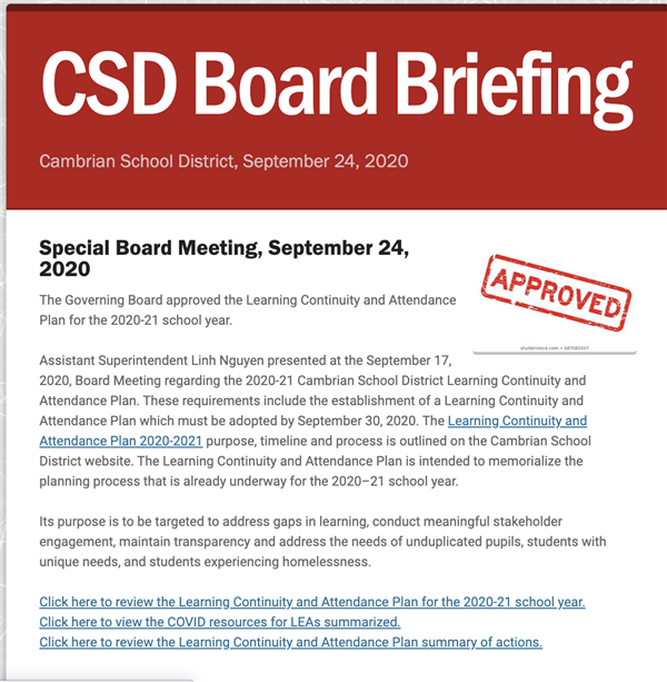 board briefing