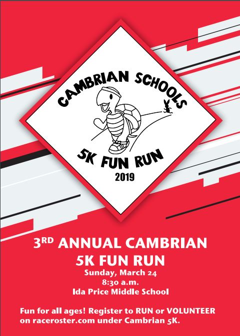 Cambrian 5K Fun Run 3.24.19