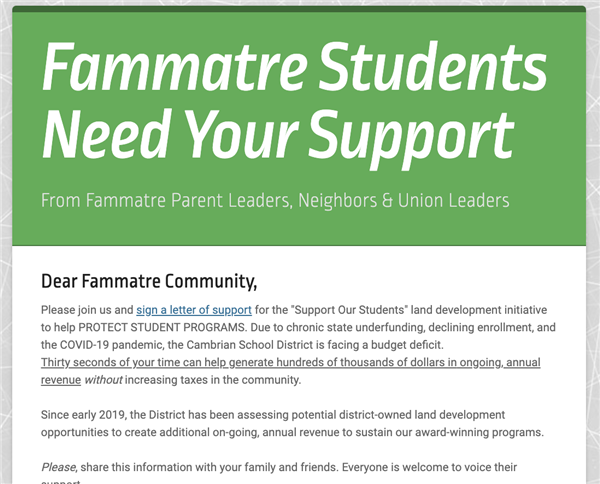 Fammatre needs your support